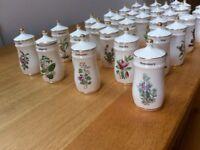 Spice Jars porcelain