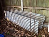 Steel or tin roof old vintage 2 sheets 2m length