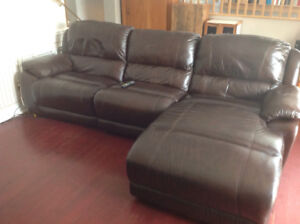 Sofa sectionel inclinable