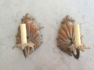 Antique Bronze Wall sconce lights (2)