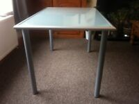 Ikea glass table / desk