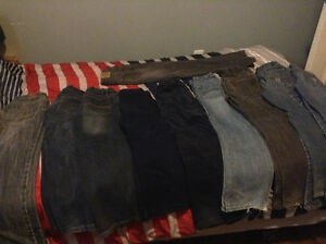 10 pairs of Boys size 7-8 pants