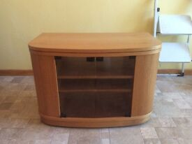 Tv unit with swivel top