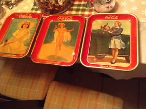RARE 1937 ORIGINAL NOT REPRODUCTION , COKE SERVING TRAY Cambridge Kitchener Area image 2