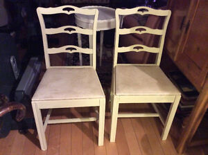 Antique 1940's ribbon back dining chairs Kitchener / Waterloo Kitchener Area image 1
