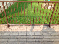 Brown aluminum deck railing