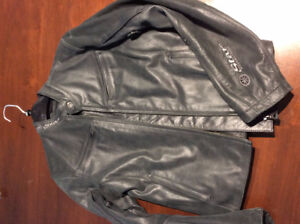 Charcoal Grey Women's (M) Soft Leather Jacket