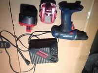 Bosch compact drill, two batteries and charger 14.4V