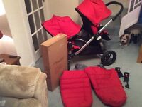 Baby jogger city select double pram pushchair