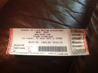 Acdc floor ticket only one left 300$