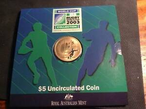 2003 Rugby World Cup $5 uncirculated coin Adelaide CBD Adelaide City Preview
