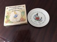 Peter Rabbit plate and box.