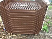 A BUNDLE OF STACKING TRAYS IDEAL FOR CAKES,BREAD,ETC