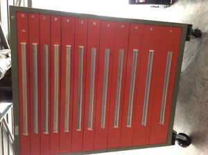 Commercial storage 12 drawer  4'w x 5' h ,400 lbs /drawer cap.
