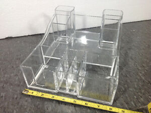 Kaboodles BRAND clear acrylic make up / office supply stand