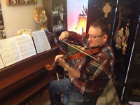 Music lessons 20$ / 45 minutes (piano and violin)