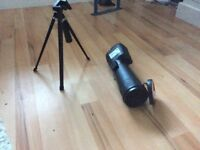 Optus telescope Zoom:20-60X60 with table tripod and user manual