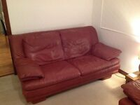 Wine leather sofas for sale