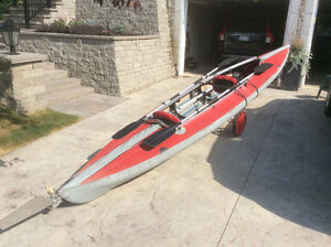 Double, folding kayak