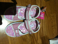 Brand new never worn pink girl shoes size 1 and 2