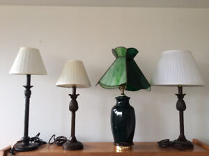 Table lamps with lampshades