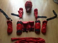 Warrior sparing gear - in good condition , hasn't been used