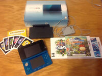 Selling 3ds with three games.