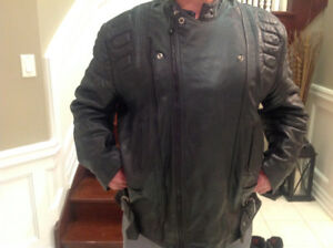 Leather Motorcycle coat