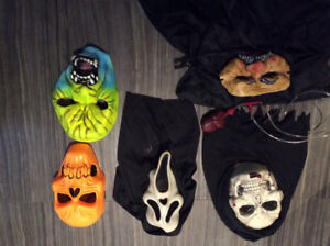 Costume et masque d'halloween