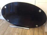 Oval glass kitchen table