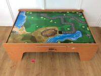 Play table for wooden train track, cars, Lego, craft etc.