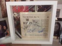 The Beatles 'No 1' EP framed in white wood frame....Fantastic