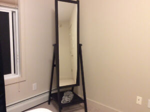 Standing Mirror with the shelf