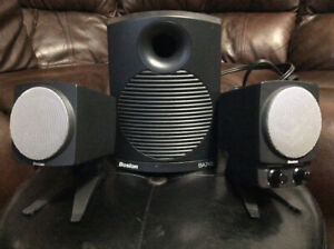 BOSTON ACOUSTICS BA 745 POWERED MULTIMEDIA SPEAKERS W/ SUBWOOFER