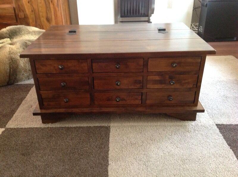 laura ashley garrat chestnut 9 drawer coffee table | in trafford