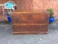 Large Mahogany 19th century Vintage Coffer/Trunk