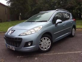 Peugeot 207 SW 1.6HDi 92 2012MY Active £20 tax Cheap Family Car