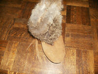 Size 5 - 5.5  Fur-Trimmed Leather Ankle Boot with fleece lining