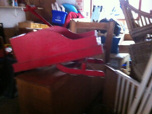 Vintage Open Sleigh Ride for child winter decor London Ontario image 3