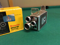 1958 browning 8 mm movie camera and projector.