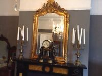 Stunning gilt French vintage chic Antique pair candle holders