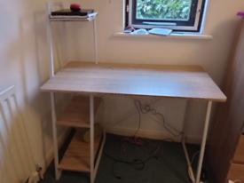 Shelved desk