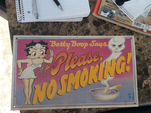 Old Betty Boop steel sign