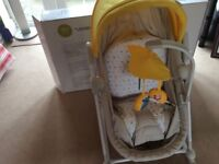 Excellent condition kinderkraft unimo 5in1 baby recliner yellow