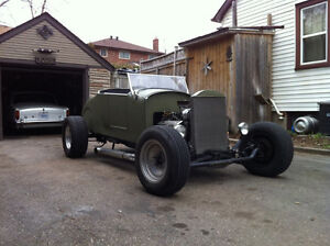1927 FORD ROADSTER 350 CHEV   2 year old pics work done since