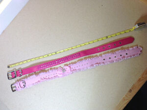 ** BRAND NEW ** 2 pink / fuchsia dog collars - size L - 29 inch Cambridge Kitchener Area image 1