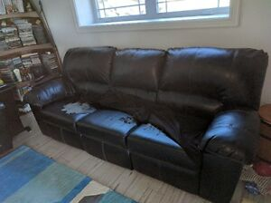 Power Reclining Love Seat and Power Reclining Chesterfield