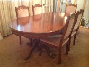 Solid cherrywood dining room suite.