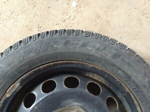 Four Volkswagen winter tires and rims. Pirelli 205/60/16