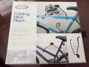 Wall-mount folding bike rack